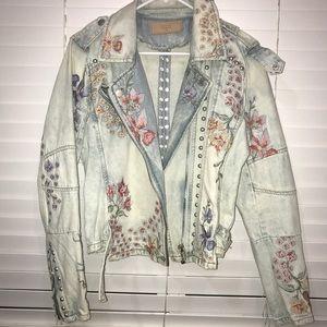 BlankNYC floral Jean Jacket